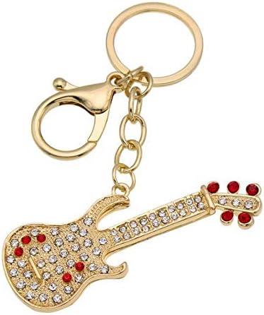 レディースキーホルダー・チャーム ラインストーンのハンドバッグペンダントレディースハンドバッグバッグペンダントギター 可愛い 飾り プレゼント