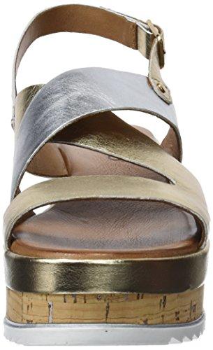 Oro 8821 Caviglia Sandali Cinturino Con Inuovo silver Donna 16781320 Alla gold ZqC0wd