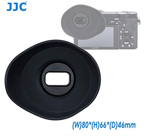 JJC ES-A6500G Oval Shape Soft Silicone 360 Rotatable Ergonomic Camera Viewfinder Eyecup Eyepiece for Sony Alpha A6500, replaces Sony FDA-EP17 ()