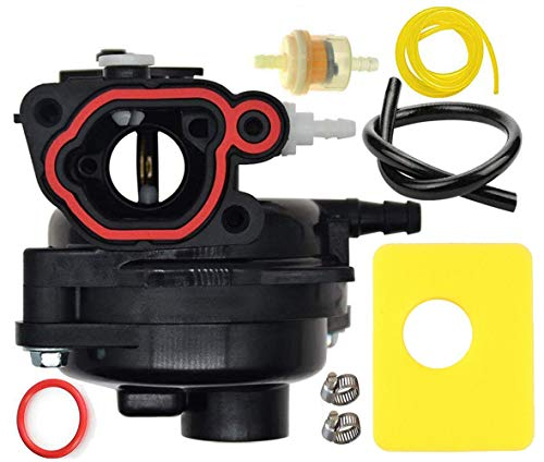 LEIMO 593261 Carburetor Carb for Briggs & Stratton 300E 450E 08P502 8P502 Vertical Engine Replace OE# 591979 Include Air Filter+Oil Filter+tubing