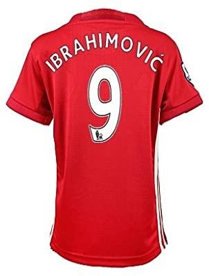 #9 Zlatan Ibrahimovi? YOUTH Manchester United FC Home Soccer Jersey + get Mr. Sport box as a GIFT