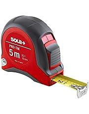 SOLA Bandmaat - PRO-TM - 3m, 5m, 8m - robuuste professionele rolbandmaat met riemclip - stalen band, geel gelakt met mm schaal - nauwkeurigheidsklasse I - rolmeter met beweegbare eindhaak - lengte 3m, 5m, 8m