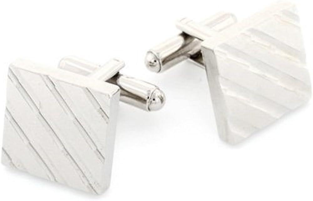 Made in The USA. JJ Weston Diamond Cut Cufflinks