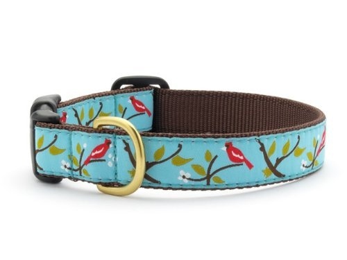 """Cardinal Dog Collar with Quick Release Buckle - X-Small (6""""-12"""") Width 5/8 In"""