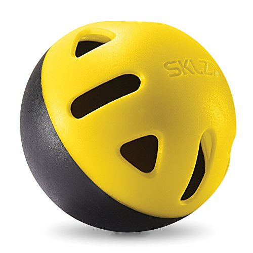 SKLZ Impact Balls - Heavy-Duty, long lasting limited flight training balls. (Whiffle Ball)
