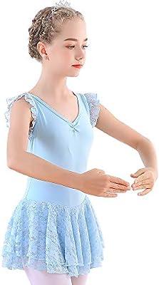 Soudittur Maillot de Ballet Niña Vestido de Danza Baile Tutú ...