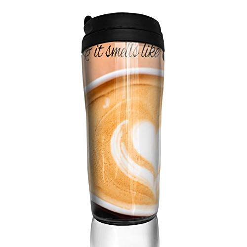 Bei Tang Coffee Cup Love Quotes in The Air Travel Tumbler Insulated Leak Proof Drink Containers Holder Cool 12 Ounces