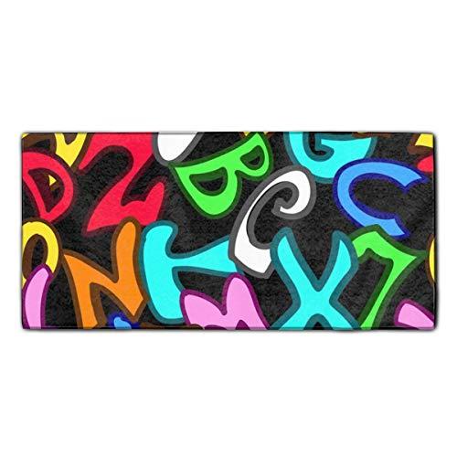 Graffiti Style Letters Dish Towels, 11.8 X 27.5