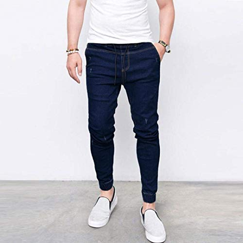 Jeans Da Pantaloni Chino Fit Dunkelblau Slim Uomo Jeasns Skinny Fashion TPrP5wdq