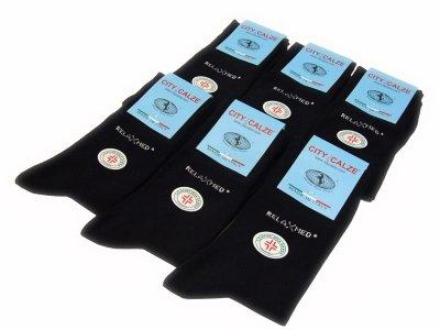 12 paia calzini sanitari in 100% cotone elasticizzato neri Nazario Casto Calze snc