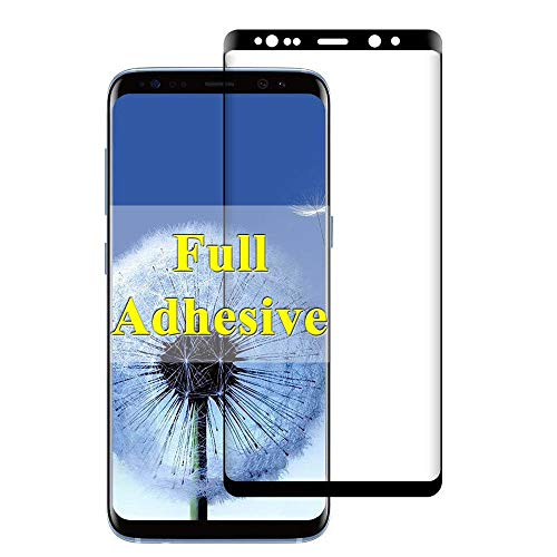 (【Full Adhesive】 Note 8 Screen Protector Compatible with Samsung Galaxy Note8 Tempered Glass gaxaly S 8 Note Protective Temper Film 【3D Curved】【Anti Scratch】【9H Hardness】 6.3 Inch (Black))