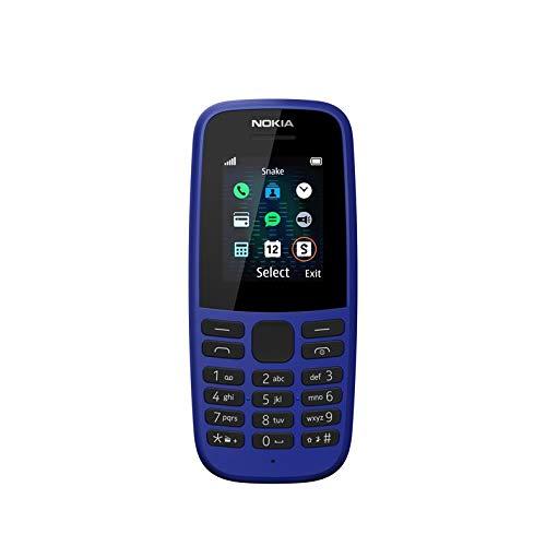 (Renewed) Nokia 105 2019 (Single SIM, Blue)