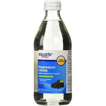 Equate - Magnesium Citrate, Oral Solution, Saline Laxative, Grape Flavor, 10 Fl Oz