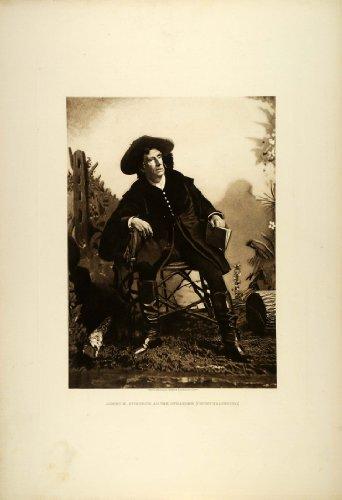 1887 Photogravure James E. Murdoch Actor Stage Play Stranger August von Kotzebue - Original Photogravure