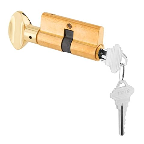 Prime-Line Products K 5105 Lock Cylinder with Thumb Turn and 5 Pin Tumbler, Brass (5 Cylinder)