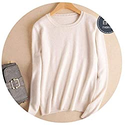 Spyman Autumn Winter Cashmere Cotton Blended Knitted Women Sweaters And Pullovers Jersey Xx Large White