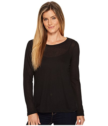 (prAna Francie Top, Black, Small)