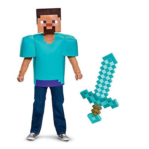 BirthdayExpress Minecraft Steve with Sword Classic Child Costume