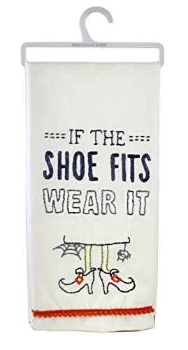 (If The Shoe Fits Wear It Witch Themed Decorative Cotton Hand)
