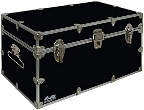 C N Footlockers UnderGrad Storage Trunk – College Dorm Chest – Durable with Lid Stay – 32 x 18 x 16.5 Inches Black