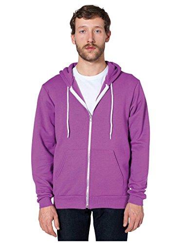 American Apparel Unisex Flex Fleece Zip Hoodie f497 - Dark Heather Grey - XL