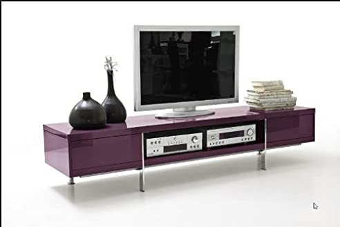 dreams4home tv-lowboard ' jackson ', in schwarz,weiß,lila ... - Wohnzimmer Schwarz Weis Lila