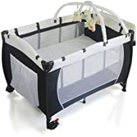 NEW BABY PORTABLE TRAVEL COT BASSINET FOLDABLE PLAYPEN PORTACOT