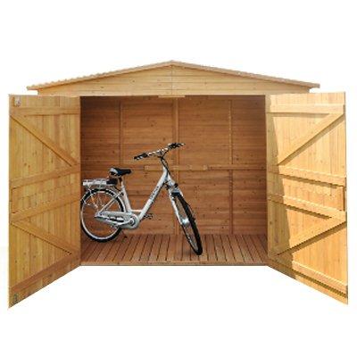 Cobertizo XXL Cobertizo caseta Madera Cobertizos dispositivo Armario madera betún techo madera hogar madera cabaña Jardín Hogar Bicicleta Caseta jardín ...