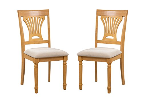 solid oak dining room chairs   Amazon.com - Trithi Furniture Portland Solid Wood Oak ...
