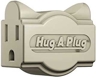 product image for Hug-A-Plug Grounded Right Angle Adapter Plug - Ivory [15a 125v Current Tap]