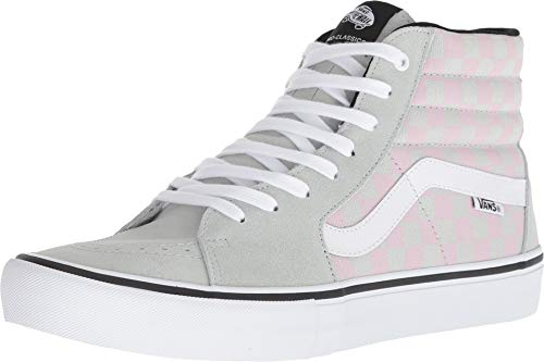 (Vans Men's SK8-HI Pro ((Checkerboard) Smoke/Violet Ice, 9 M US))