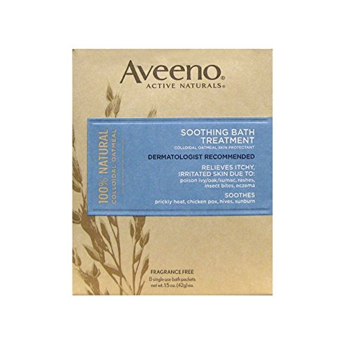 Bath Oatmeal Aveeno (Aveeno Soothing Bath Treatment (8 Single Use Bath Packets))