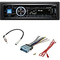 ALPINE CDE-143BT CD USB MP3 WMA AUX IPOD IPHONE EQUALIZER EQ BLUETOOTH RADIO WITH STEREO RECEIVER WIRING HARNESS + RADIO ANTENNA ADAPTER