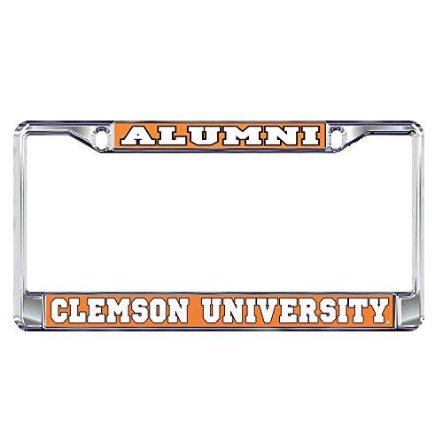 Clemson University Alumni Tigers Silver Metal License Plate Frame ()