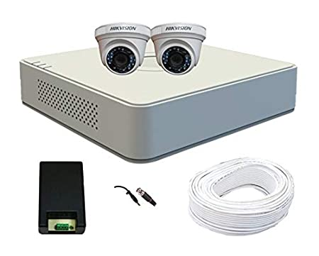 Hikvision 2 CCTV Camera kit 4 Channel DVR Bullet Cameras at amazon
