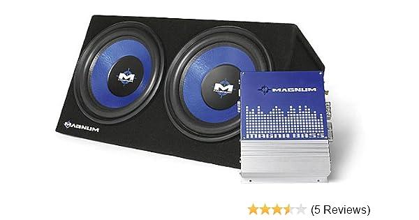 amazon com mtx audio magnum 1000 watt 2 12 subwoofer box w car rh amazon com Magnum Amp Magnum Amp