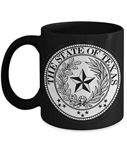 - Texas State Seal Lone Star Black 11 or 15 oz Coffee Mug Tea Cup