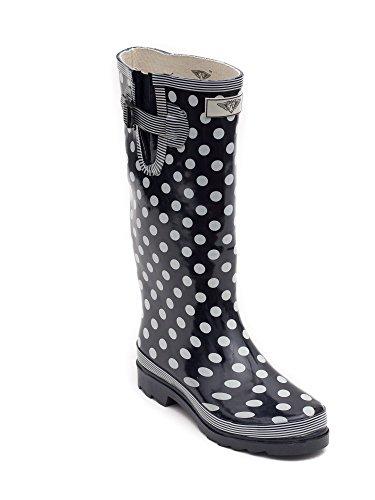 Forever Young - Wellie Regenstiefel für Damen Navy Polka Dot