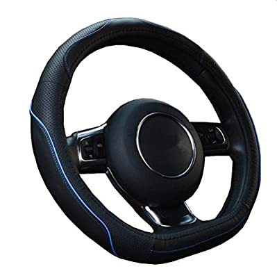 ZATOOTO D Design Car Steering Wheel Cover Real Leather Anti-skid Breathable Fashion Car Accessories