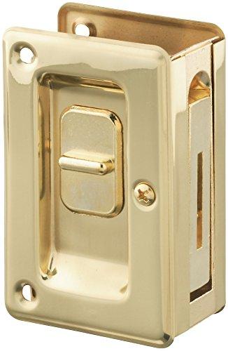 Stanley Hardware S404-040 PD250-62 Deluxe Pocket Door Latch in Brass , 2-3/8