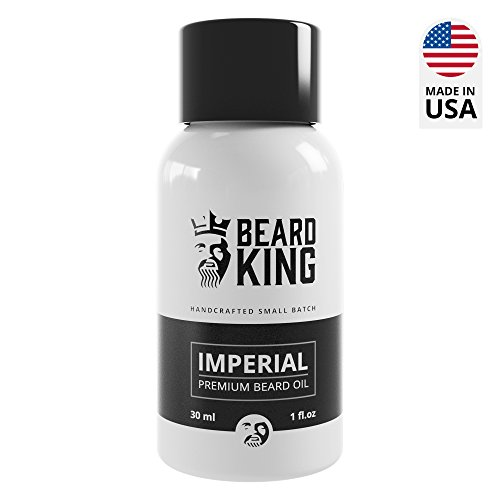 BEARD KING - Beard Oil - Imperial - 100% Natural, Non-Greasy Premium Oil for Men, Delivers Nutrients & Vitamins to Nourish Facial Hair for Best Beard Growth, Made in USA - 1oz. (Imperial)