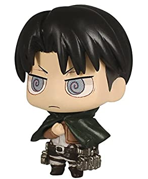 Attack on Titan Chimi Mascot 3 Llavero Figure - Levi: Amazon ...