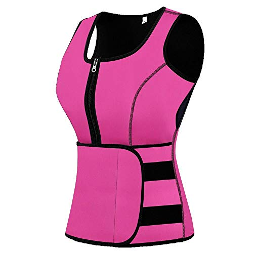 (Mpeter Sweat Vest for Women, Slimming Body Shaper, Weight Loss, Pink, 4XL)