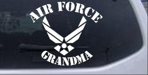 Grandma Military Window Laptop Sticker