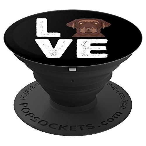 Other Chocolate Cellular Phone - I Love My Chocolate Lab - PopSockets Grip and Stand for Phones and Tablets