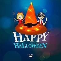 Sombrero De Bruja Naranja De Halloween con Decoración De Luz ...