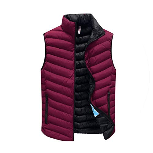 (Men's Sleeveless Jacket Winter Ultralight White Duck Down Vest Male Slim Vest,3,4XL)