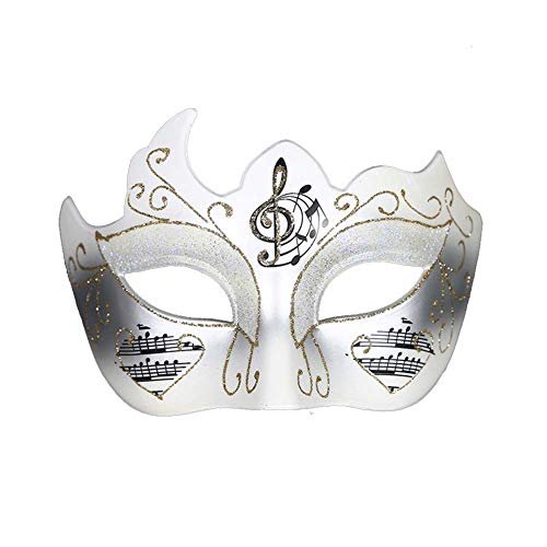 ANJUY Womens Venetian Mask with Music Notes Halloween Mardi Gras Party Costume Prom
