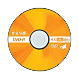 Maxell 638006 DVD-R 4.7 Gb Spindle with 2 Hour