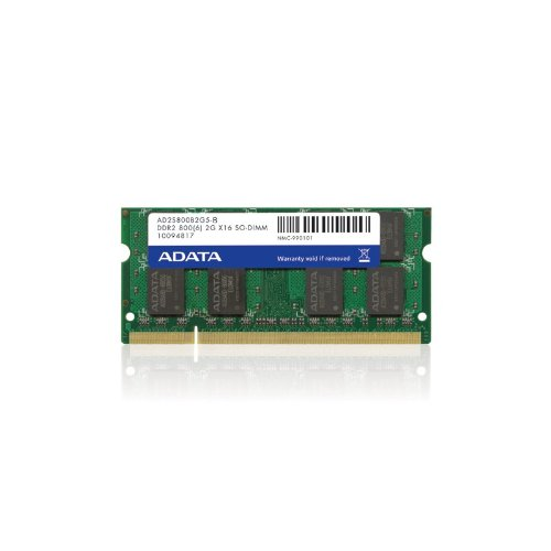 ADATA 2 GB DDR2-800 (PC-6400) CL5 SO-DIMM Memory Module AD2S800B2G5-R (Black) by ADATA